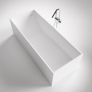 Frozen Tub 180 - 180x76 Massiv Matt White SolidTec®