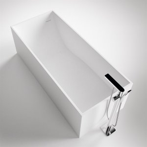 Frozen Tub 170 - 170x72 Massiv Matt White SolidTec®