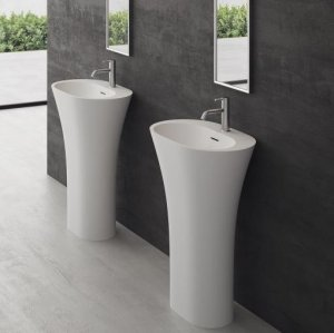 White Bucatini - 90hx63x42 Massiv Matt White SolidTec®